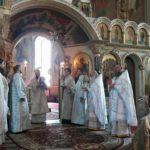 Архієпископ Черкаський і Канівський Феодосій очолив Літургію в день свята Преображення Господнього у Михайлівському соборі